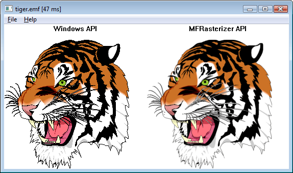 MFRasterizer Screenshot