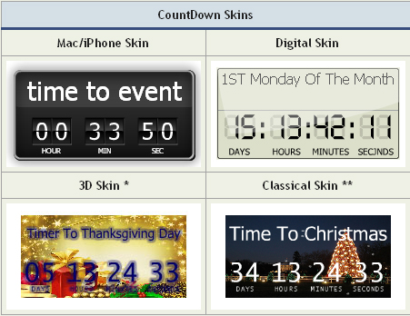 Download CountDown Timer in Flash for Website 2 5 3