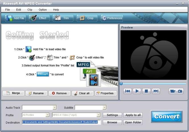 Aiseesoft AVI MPEG Converter Screenshot