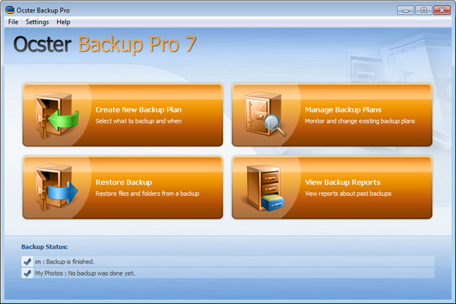 Ocster Backup Pro Screenshot