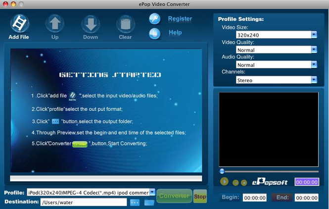 ePopsoft Video Converter for Mac Screenshot 1