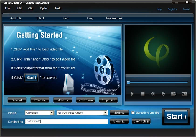 4Easysoft Wii Video Converter Screenshot