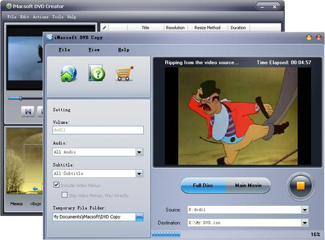 iMacsoft DVD Maker Suite Screenshot 2