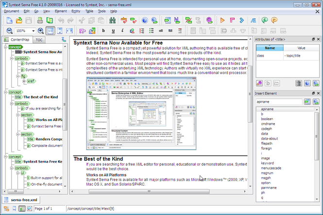 Serna Free for Windows Screenshot