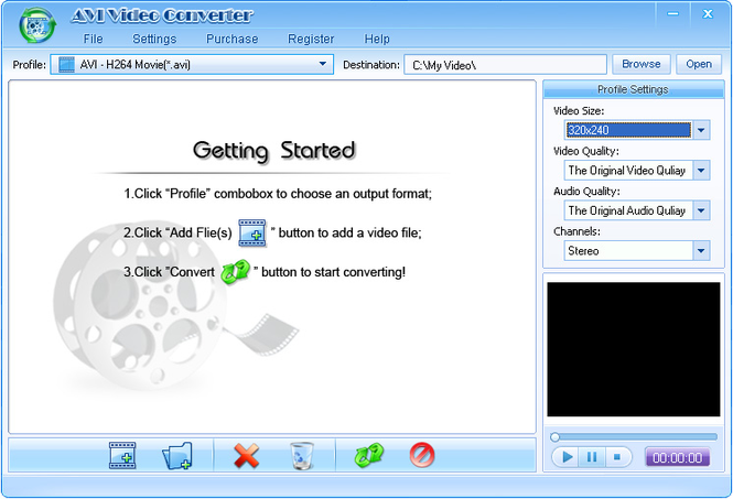 Shine AVI Video Converter Screenshot