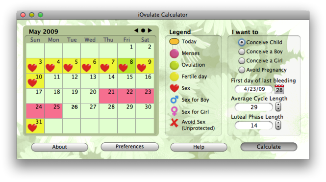 iOvulate Calculator Screenshot 1