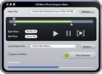AVCWare iPhone Ringtone Maker for Mac Screenshot