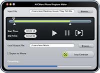 AVCWare iPhone Ringtone Maker for Mac Screenshot 1