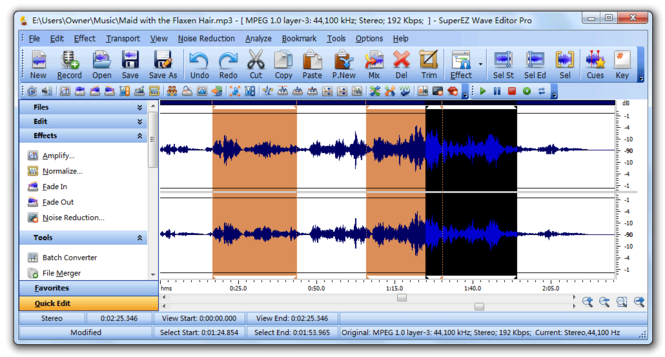 Gold Wave Editor Pro 2010 Screenshot