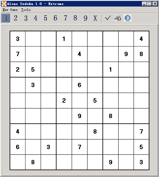 Alone Sudoku Screenshot