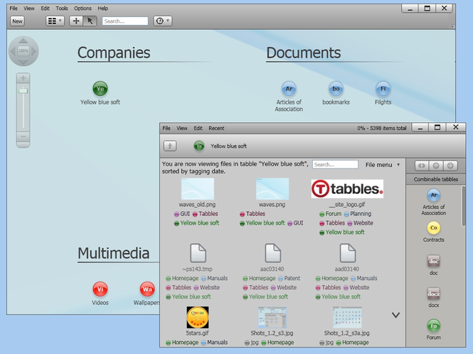 Tabbles business | file organizer Screenshot
