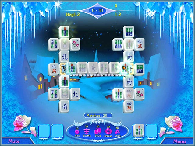 Snow Queen Mahjong Screenshot