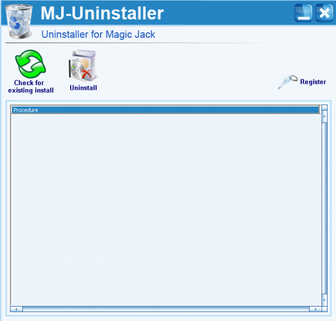 Magic Jack Uninstaller Screenshot 1
