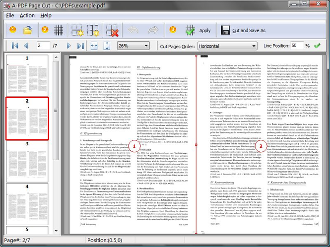 A-PDF Page Cut Screenshot