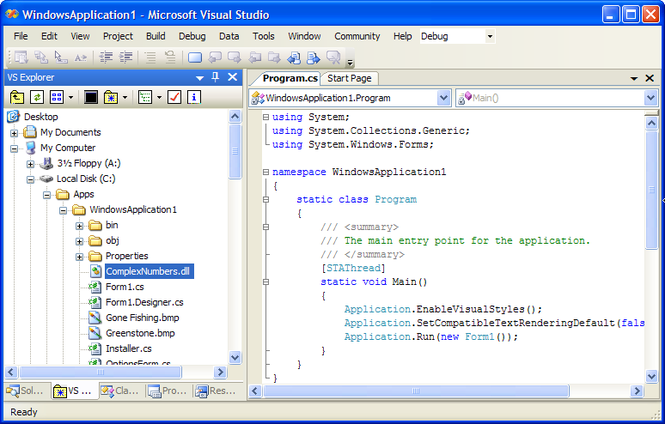 VS Explorer Screenshot