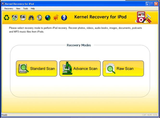 Ipod Recovery Screenshot