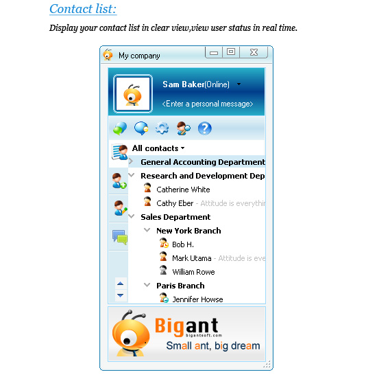 BigAnt Office Messenger Screenshot