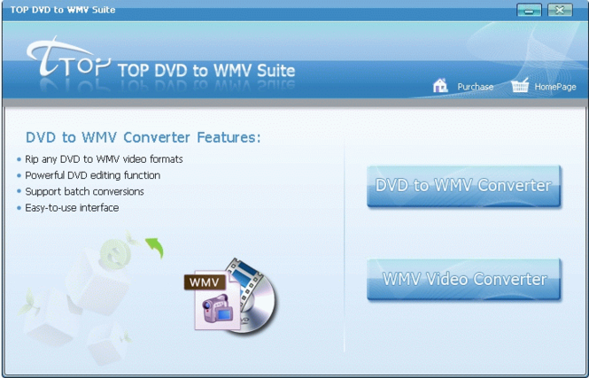 TOP DVD to WMV Suite Screenshot