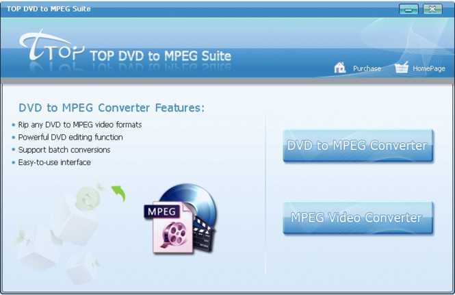 TOP DVD to MPEG Suite Screenshot