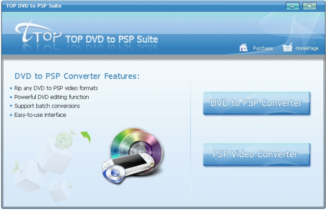 TOP DVD to PSP Suite Screenshot