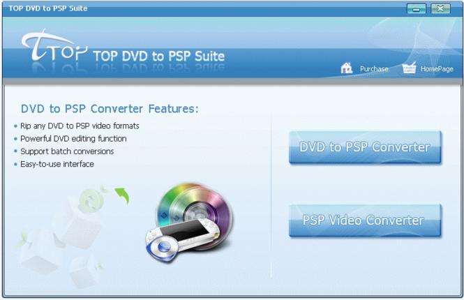 TOP DVD to PSP Suite Screenshot 1