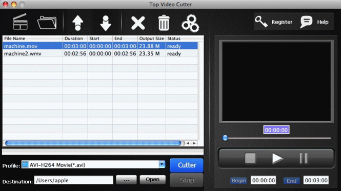 TOP Video Cutter for Mac Screenshot