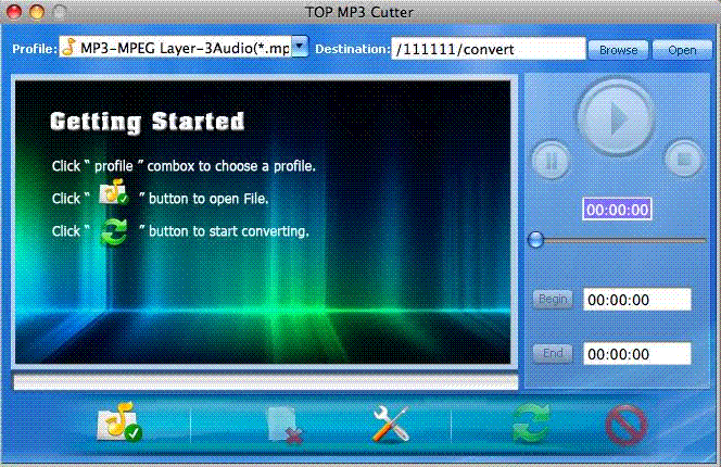 TOP MP3 Cutter for Mac Screenshot