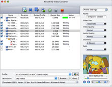 Xilisoft HD Video Converter for Mac Screenshot