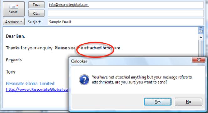 Onlooker for Microsoft Outlook Screenshot