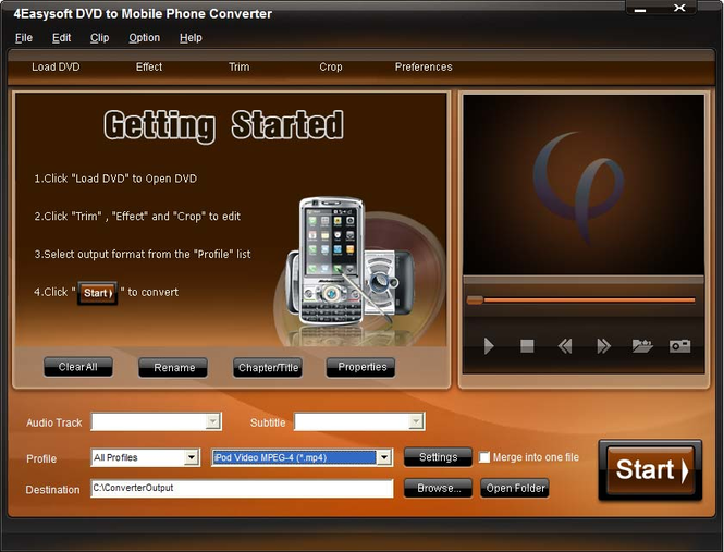 4Easysoft DVD to Mobile Phone Converter Screenshot