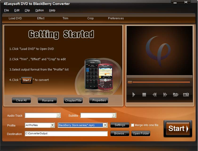 4Easysoft DVD to BlackBerry Converter Screenshot