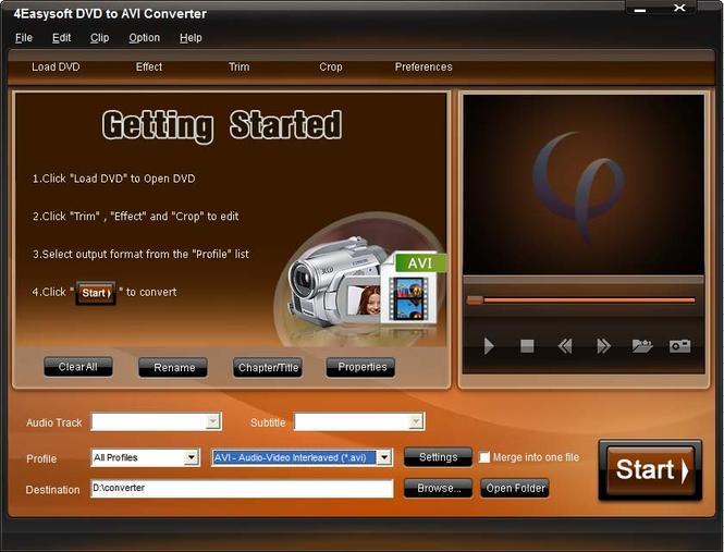 4Easysoft DVD to AVI Converter Screenshot