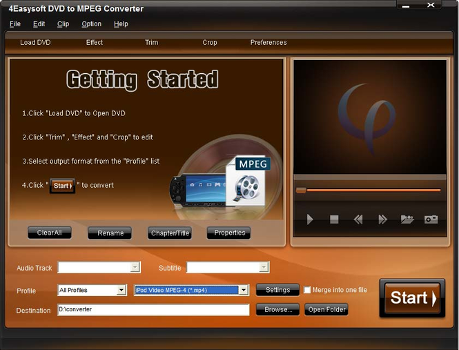4Easysoft DVD to MPEG Converter Screenshot