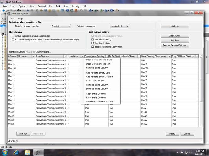 Active Directory Bulk Screenshot 1