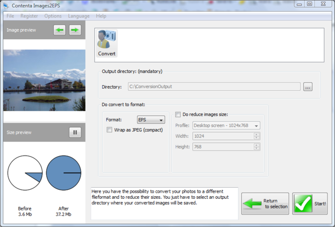 Contenta Images2EPS for Mac Screenshot