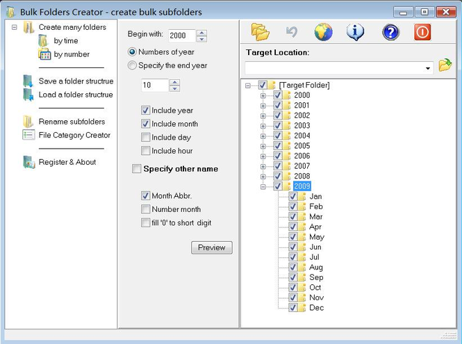 Category folders Creator Screenshot
