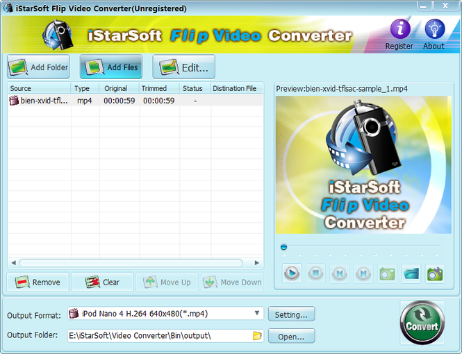 iStarSoft Flip Video Converter Screenshot 2