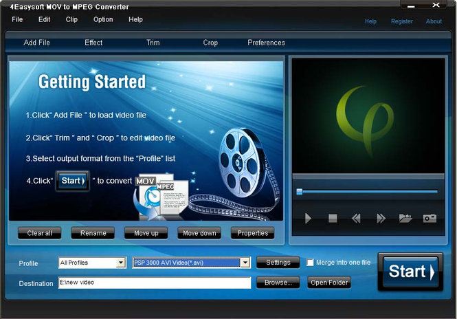 4Easysoft MOV to MPEG Converter Screenshot 1