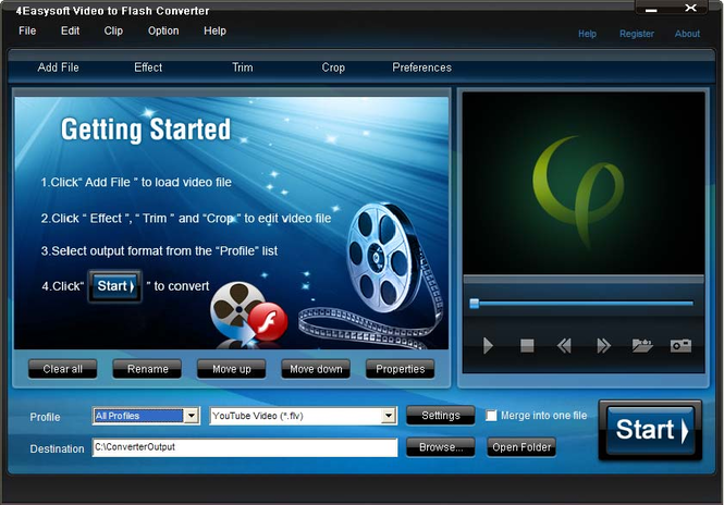 4Easysoft Video to Flash Converter Screenshot