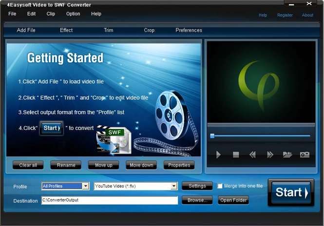 4Easysoft Video to SWF Converter Screenshot 1