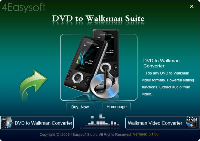 4Easysoft DVD to Walkman Suite Screenshot