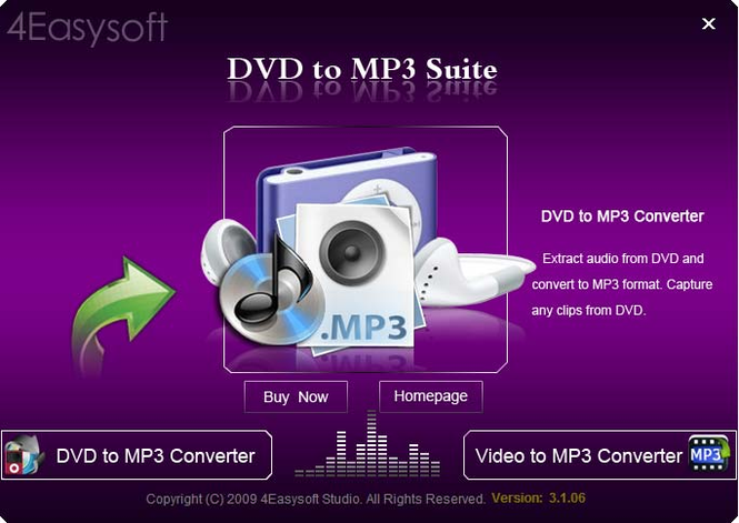 4Easysoft DVD to MP3 Suite Screenshot