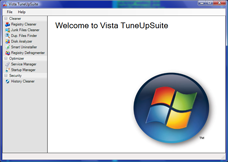 Vista TuneUpSuite Screenshot