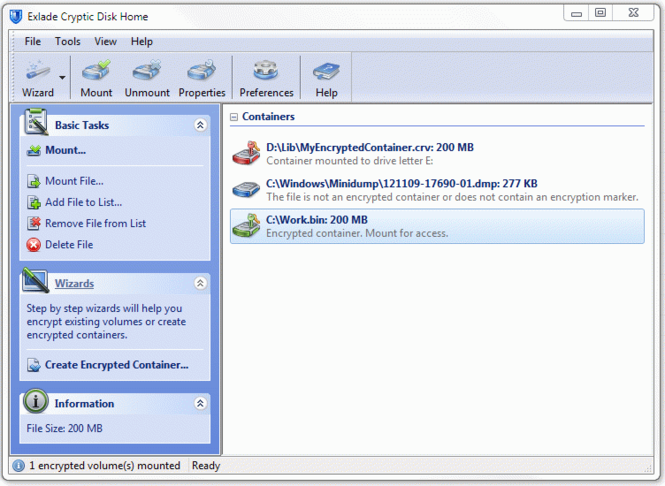 Disk Encryption Software Cryptic Disk Screenshot