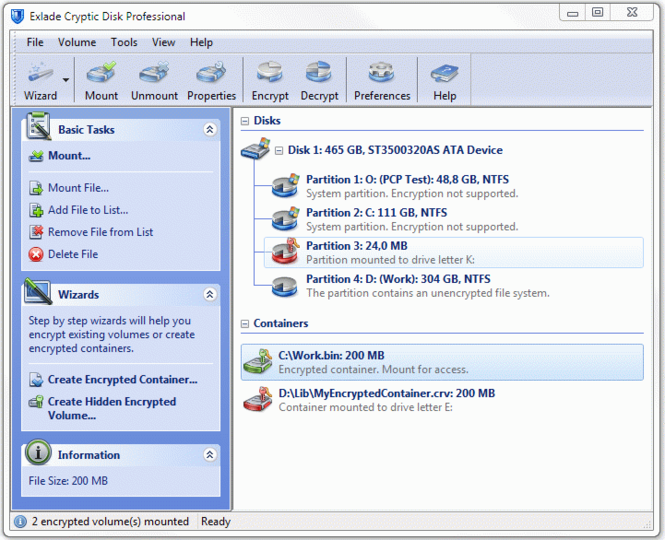 Cryptic Disk Professional Edition Screenshot 1