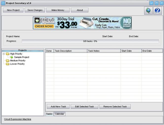Project Secretary Screenshot