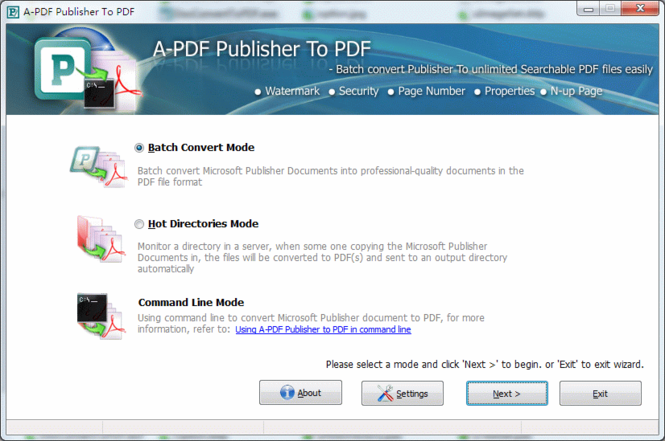 A-PDF Publisher to PDF Screenshot 1