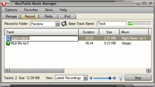 MuzToolz Music Manager Screenshot 1