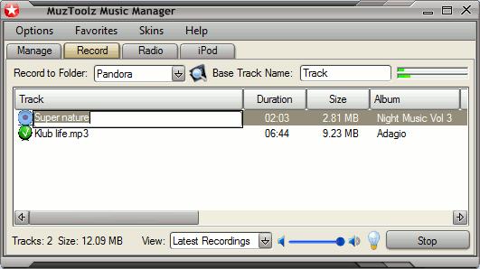 MuzToolz Music Manager Screenshot
