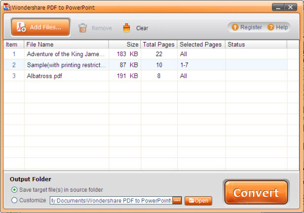 AnyBizSoft PDF to PowerPoint Converter Screenshot